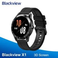 Blackview X1 SmartWatch 5ATM Herz Rate Männer Frauen Sport Uhr Schlaf Monitor Wasserdichte Ultra-Lange Battrey für IOS Android telefon