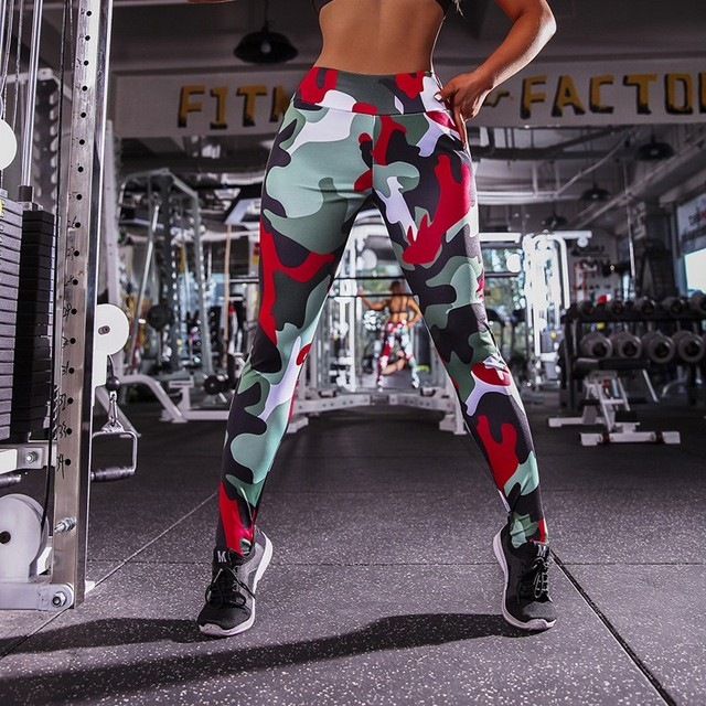 Fashion Women Clothes Sports Leggings Sexy Overalls Compression Push Up Leggings Halloween Gothic Workout Leggings.jpg 640x640 - Compression Push-Up Camo-Style Stretchy Women's Leggings