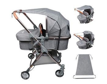 baby stroller accessories muslin blanket car seat cover sunshield sunshade safety basket cart cradle cap visor sun canopy Baby Stroller Sun Visor Carriage Sun Shade Canopy Cover for Prams Stroller Accessories Car Seat Buggy Pushchair Cap Sun Hood