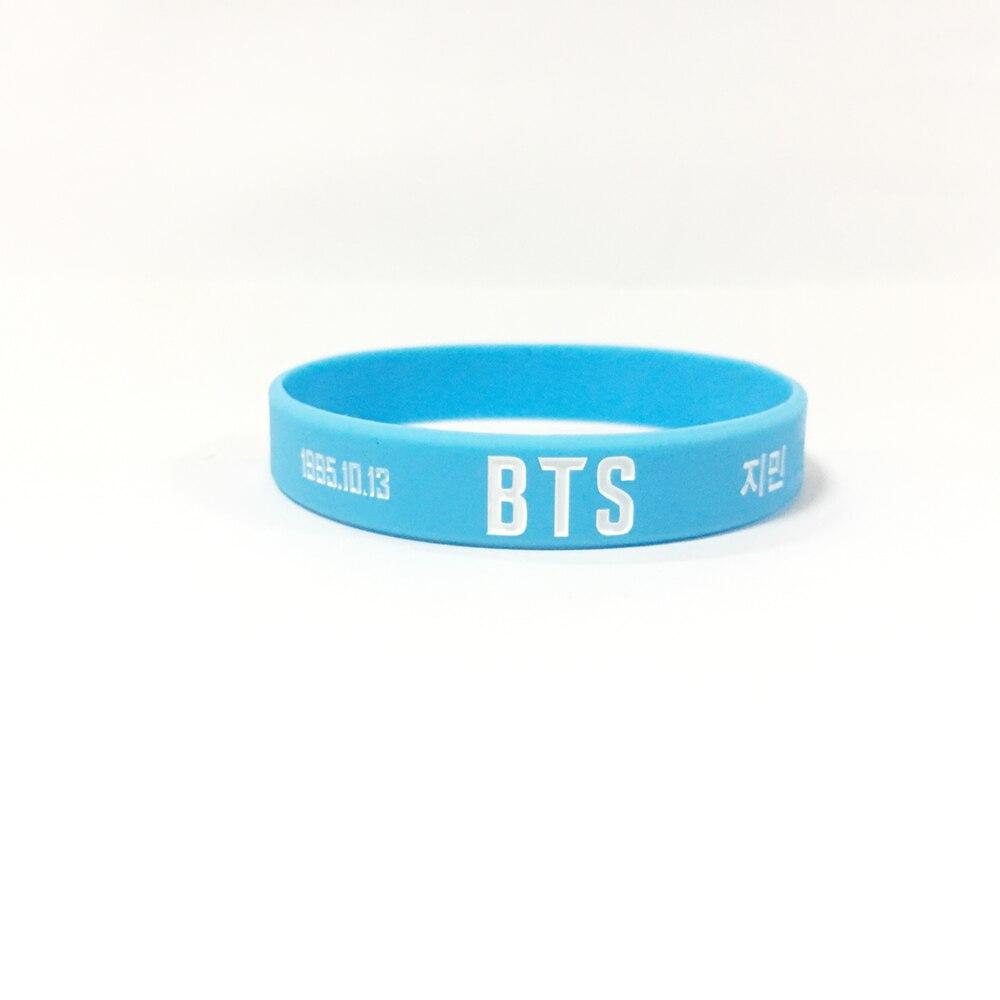 BT21 blue JINIM Korean star 1995.10.13 silicone bracelet jewelry