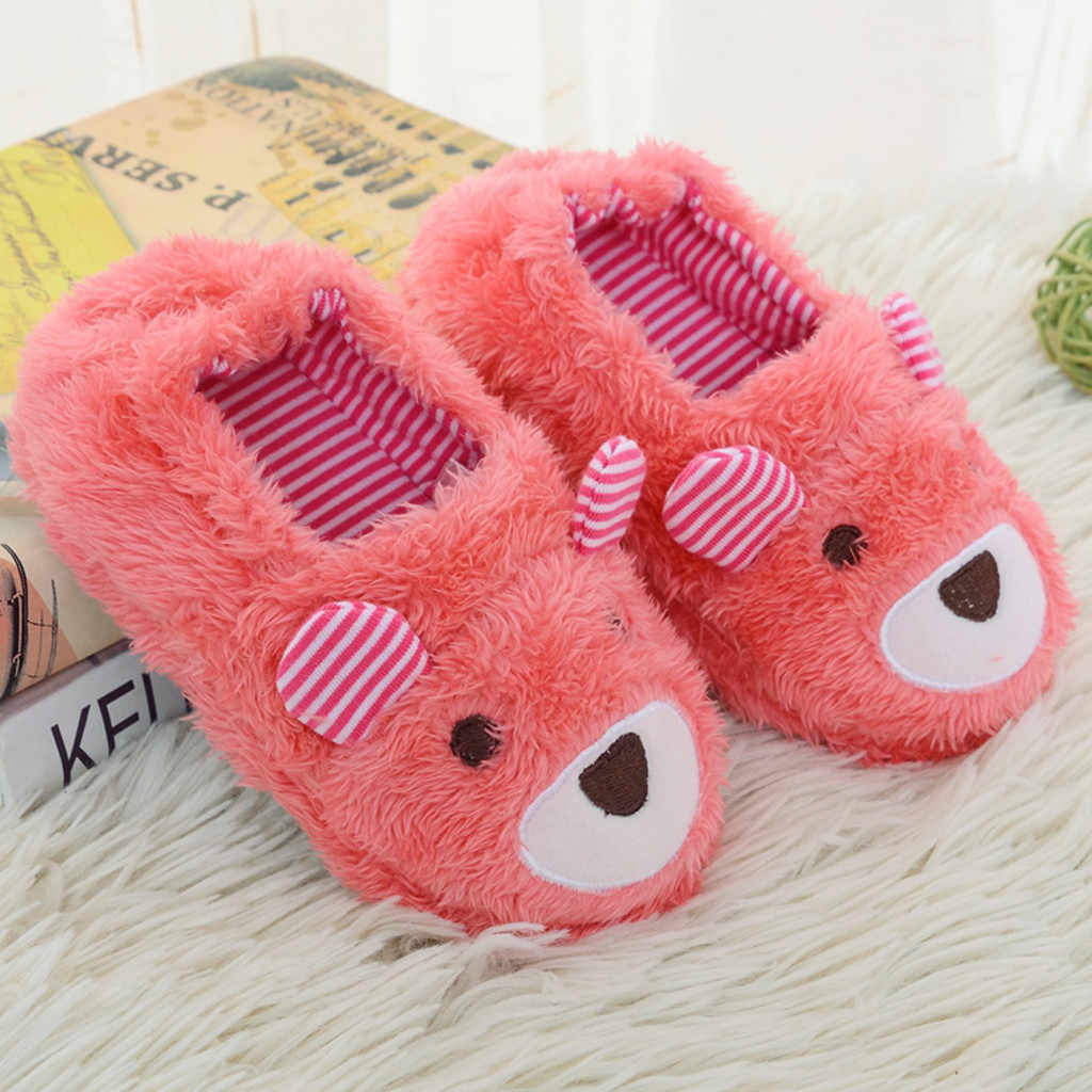 Kids Slippers Infant Baby Slippers Warm Shoes Boys Girls Cartoon Soft-soled Kids Winter Slippers Home Shoes Pantoufle Enfant