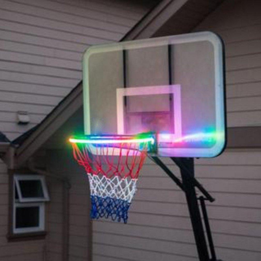 Solar basket hoop LED play on the basketball edge illuminated at night shoot rings on LED strip night lamp