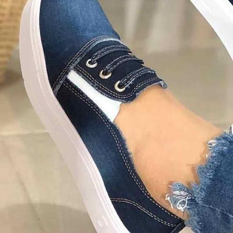 Heflashor 2019 primavera mujeres nuevas zapatillas de deporte otoño suaves cómodos zapatos casuales planos zapatos femeninos calzado