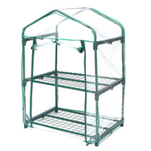 Home Outdoor Mini Greenhouse Winter Shelter Shade 70x50x95cm2 Layers Vegetables Flower Plant Pot Gardening Shelves Warm Room