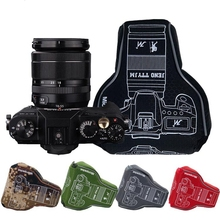 Trójkąt wodoodporna, odporna na wstrząsy torba na aparat rura obiektywu mikro pojedynczy futerał ochronny dla Fuji XA3 Sony A7 A6500 Canon M5 Nikon D3500