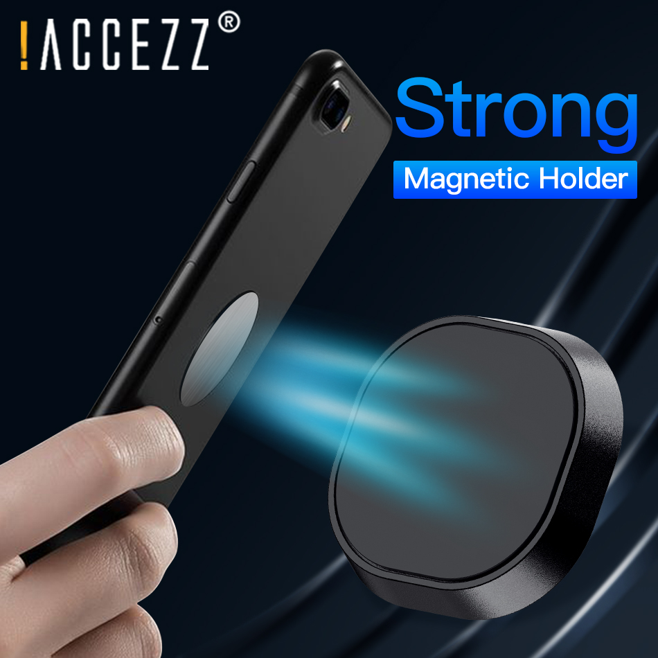 !ACCEZZ Mini Magnetic Phone Holder For Apple IPhone 11 Pro Max XS MAX XR Universal Magnet Wall Desk Dashboard Mount Holder Stand