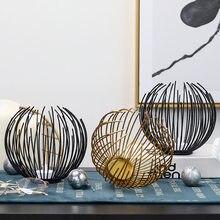 Suporte de vela de ferro oco castiçal lanterna formas geométricas centro mesa café sala estar decoração casa presentes