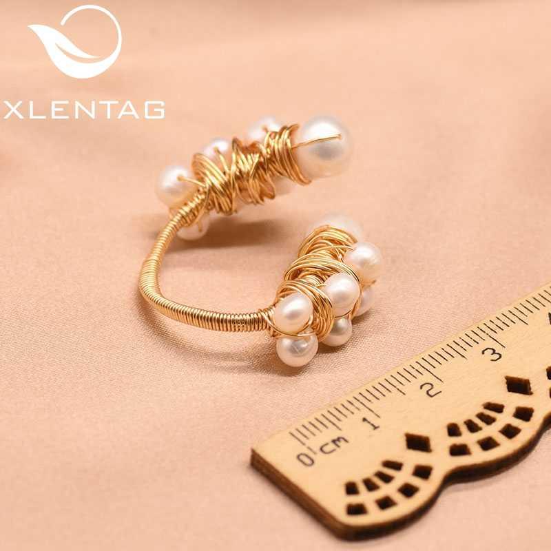 XlentAg באיכות גבוהה טבעי טרי מים לבן פנינה טבעות לנשים בעבודת יד חמוד חתונה טבעת יוקרה Boho תכשיטי 2020 GR0190