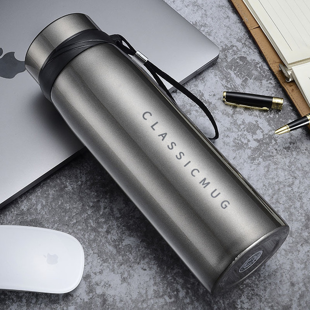 1100m/500ml Portable Double Stainless Steel Vacuum Flask Coffee Tea Thermos Mug Sport Travel Mug Large Capacity Thermocup 1