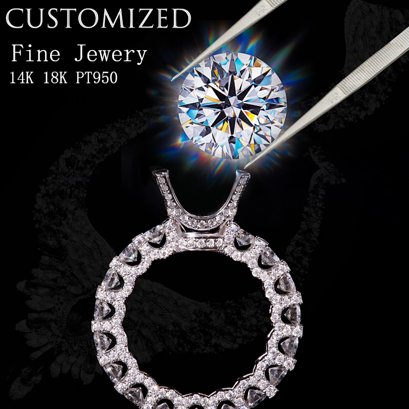 Free ShipåRuby-Ring Moissanite-Ring Jewelry-Service 14K Customize Or 18K