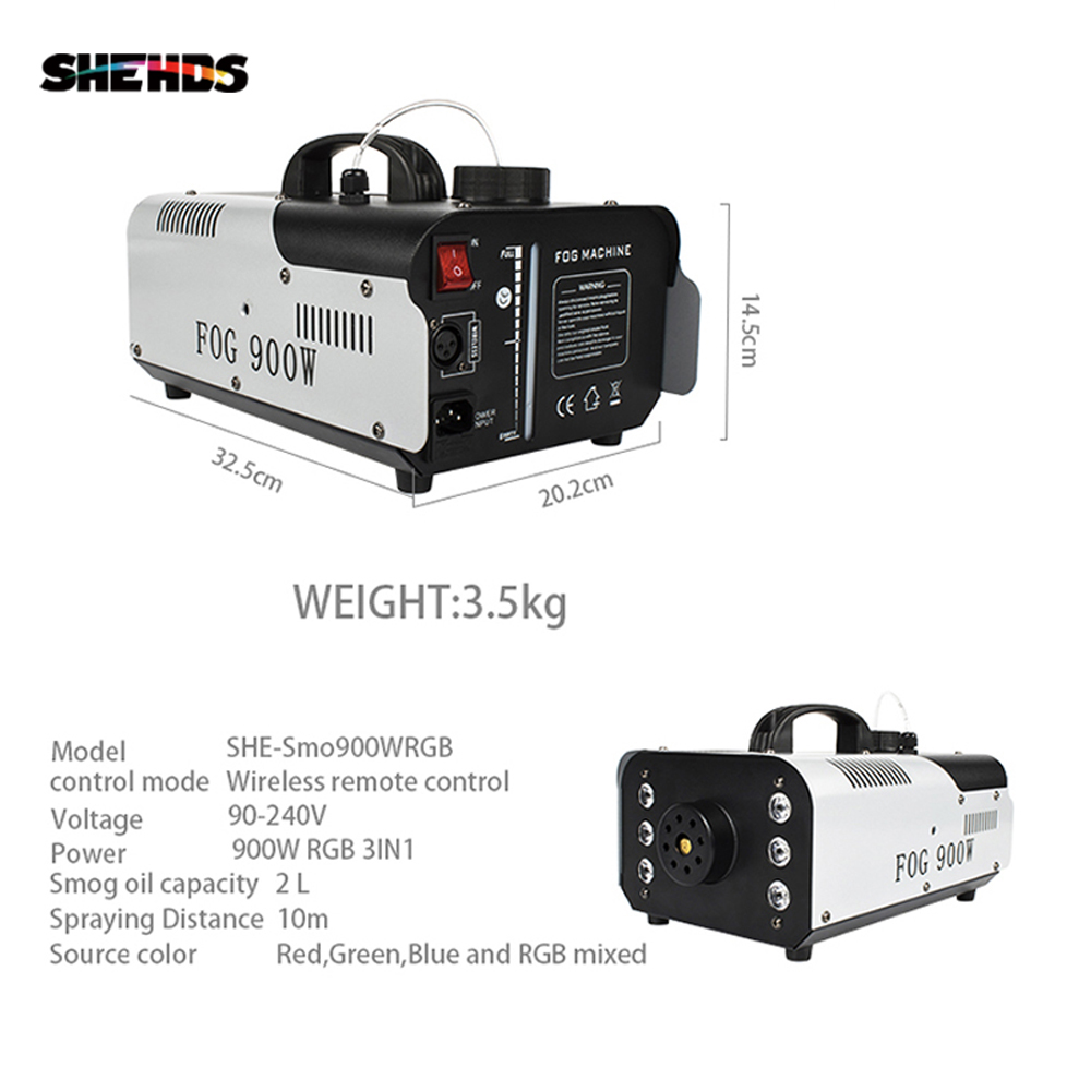SHEHDS 1500W Smoke Machine DMX512 LED Fog Machine Pyro Vertical Fogger Machine Remote or Wire Control Stage Fog Machine|Stage Lighting Effect| |  - title=