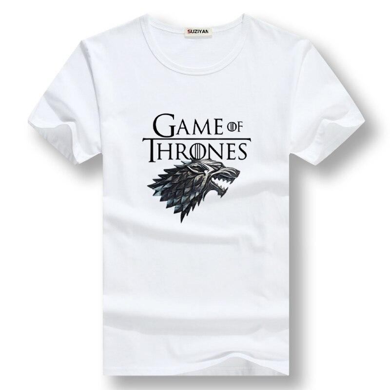 Summer Tops Shirt Cotton Short Sleeve Game Of Thrones Men T-shirt Casual Men Tshirt Tops Tees Winter Is Coming Men T Shirt 2019