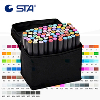 30/40/60/80/128 Colors Art Marker Professional Sketch Marker Alcohol Based Brush Pen for Drawing Art Supplier for Drawing