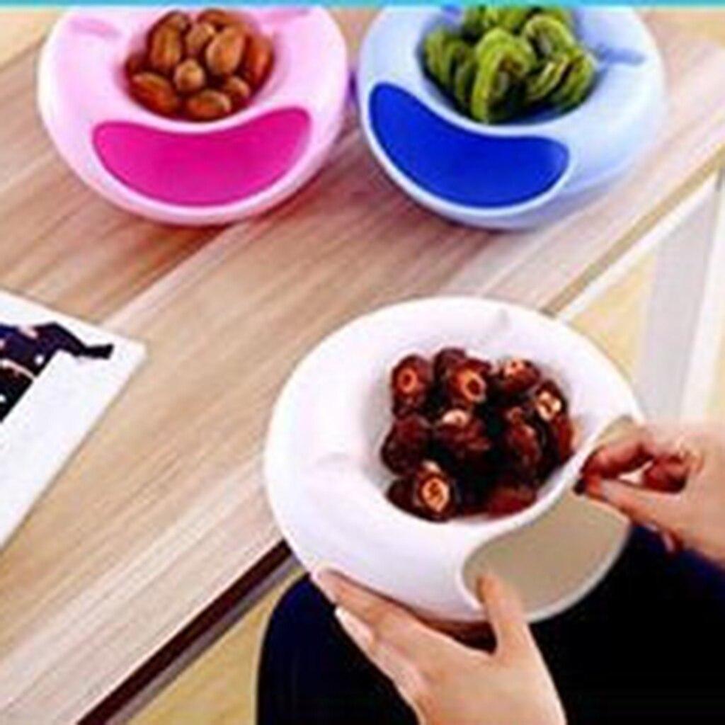 多機能スナック収納ボックス二重層コンテナ家庭用プレート皿オーガナイザースナックフルーツ