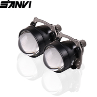 Sanvi 2Inches V3 40w 5550k Auto Bi LED Projector Lens Headlight H4 H7 9005 9006 Car Light Reftrofit kit Car Light Accessories.