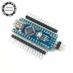 1 pcs/lot Nano Atmega168 contrôleur compatible pour arduino nano Atmega168P CH340 CH340C remplacer CH340G USB pilote pas de câble