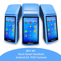 Milestone Handheld pos computer Android PDA with 5 inch touch 3G network wifi Bluetooth built in 58mm thermal printer M1
