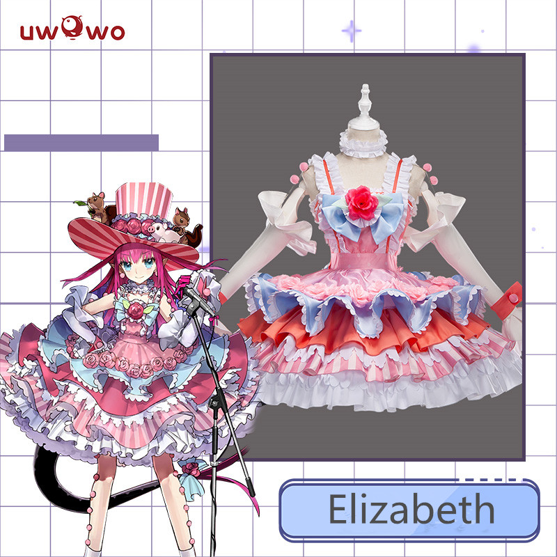 Fate Grand Order FGO Cosplay Costume Brave Elizabeth Bathory Stage Dragon Cosplay Costume Female Party Dress Dancing Outfits