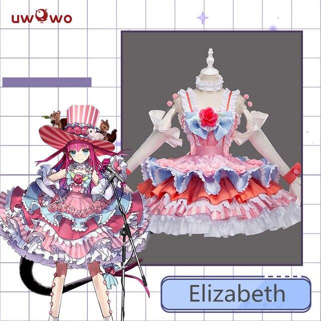 Kader büyük sipariş FGO Cosplay kostüm cesur Elizabeth Bathory sahne ejderha Cosplay kostüm kadın parti elbise dans kıyafetleri