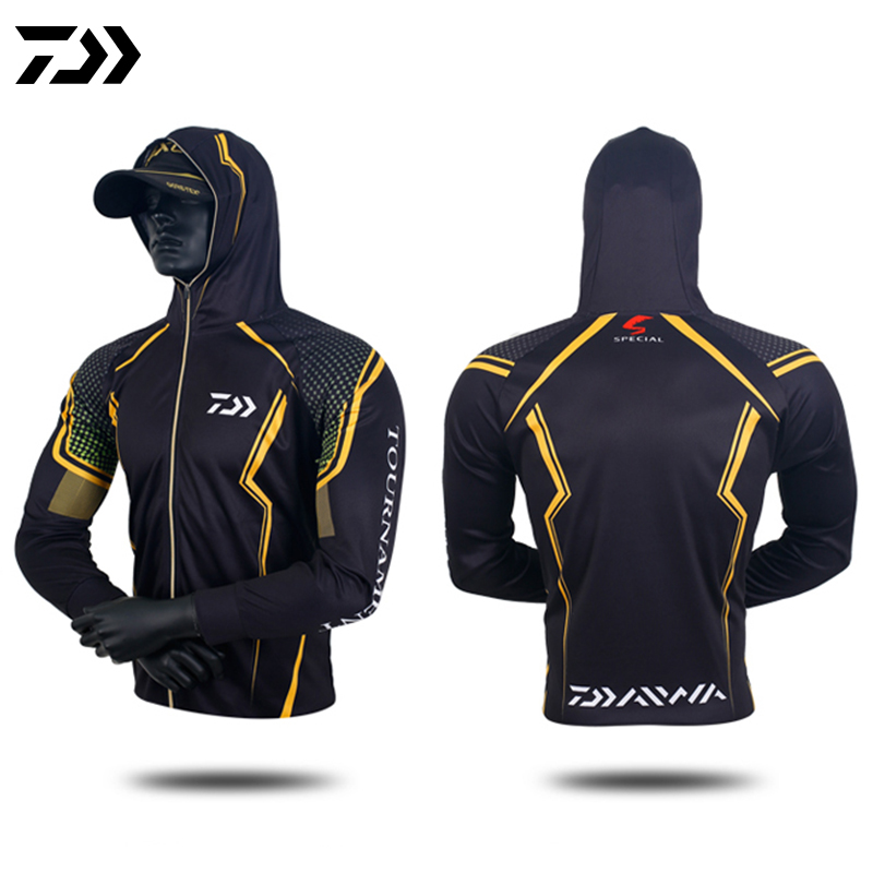DAIWA Summer Sunscreen Fishing Shirt Men's  Hoodie Sun Protection Quick Dry Full Sleeve Outdoor Breathable Fishing Jackets