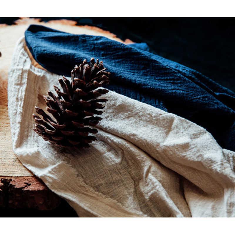 Vintage coton linge serviette Dessert Table serviettes Table décorative couleur unie Simple Style japonais serviette de table tissu