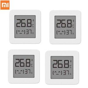 Image 1 - Термометр Xiaomi Mijia 2, Bluetooth датчик температуры и влажности, цифровой гигрометр с ЖК дисплеем, измеритель влажности, работает с приложением Mi home