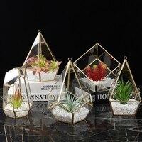 Nordic Irregular Glass Geometric Terrarium Box Tabletop Display Air Plant Planter Box Fairy Flower Room Home Decoration Table
