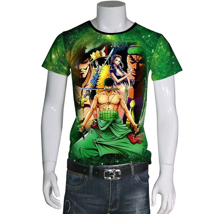 Vente chaude été nouveau Style une pièce Sauron 3D Anime dessin animé à manches courtes hommes T-shirts Xa105
