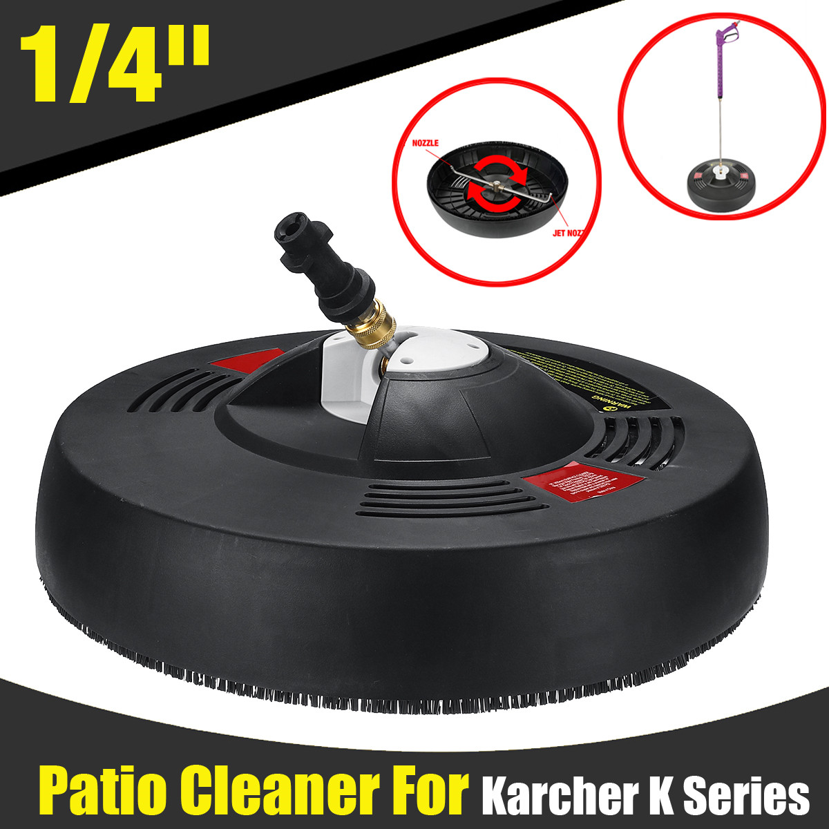 High Pressure Cleaner Round Attachment Flat Surface Cleaner