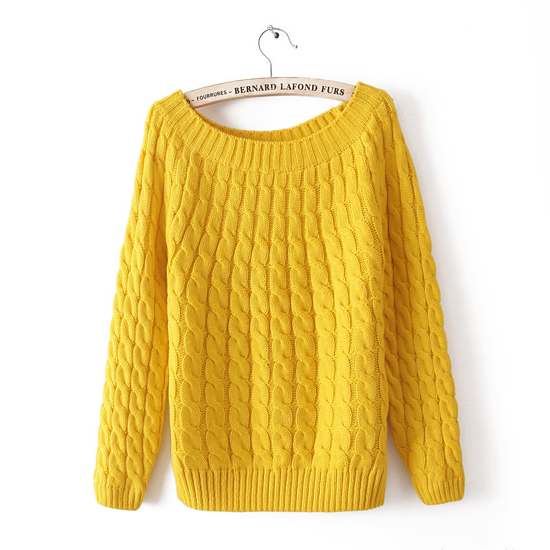 New Fashion Solid Color Women's Sweater. Fashion Twist Sweater  Sweaters Fashion 2019 Women  Loose Sweater For Women