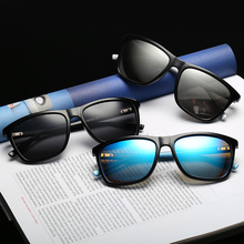 Black Color Square Frame Fashion Men Sunglasses Vintage Retr