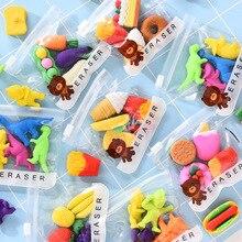 4 шт./пакет для фруктов и овощей, мороженое Форма каучуковый карандаш ластики в форме забавных Съемная сборка ластики, познавательные, обучающие игрушки