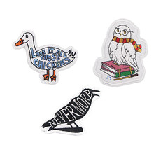 R927 1pcs Owl Crow Duck Sticker For Clothing Applications Patches On Clothes Iron Embroidered Patch For Backpack Badge(China)