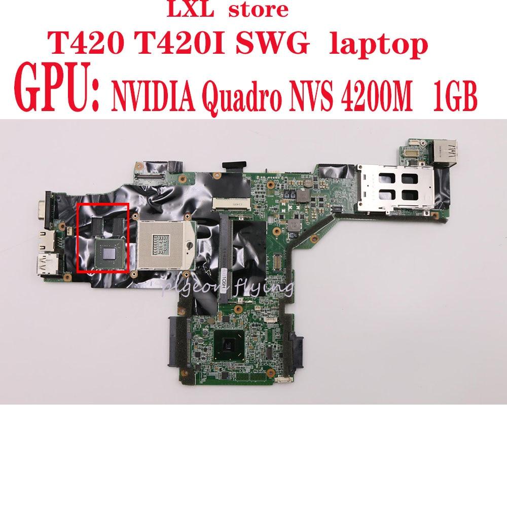 M/B LNVH 41-AB580 For Thinkpad T420 T420i Laptop Motherboard SWG QM67 GPU:  NVS 4200M 1GB DDR3 FRU 63Y1997 63Y1812 63Y1705 Test