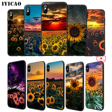IYICAO Yellow sunflower Soft Phone Case for iPhone 11 Pro XR X XS Max 6 6S 7 8 Plus 5 5S SE Silicone TPU