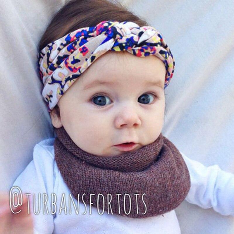 Повязки на голову с бантиком для маленьких девочек; ручная работа; хлопковая повязка на голову с перекрестными узелками в богемном стиле; мо...