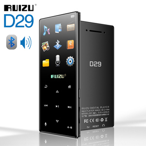 RUIZU D29 Bluetooth MP3 Player Portable Audio 8GB Music Player with Built-in Speaker Support FM,Recording,E-Book,Clock,Pedometer