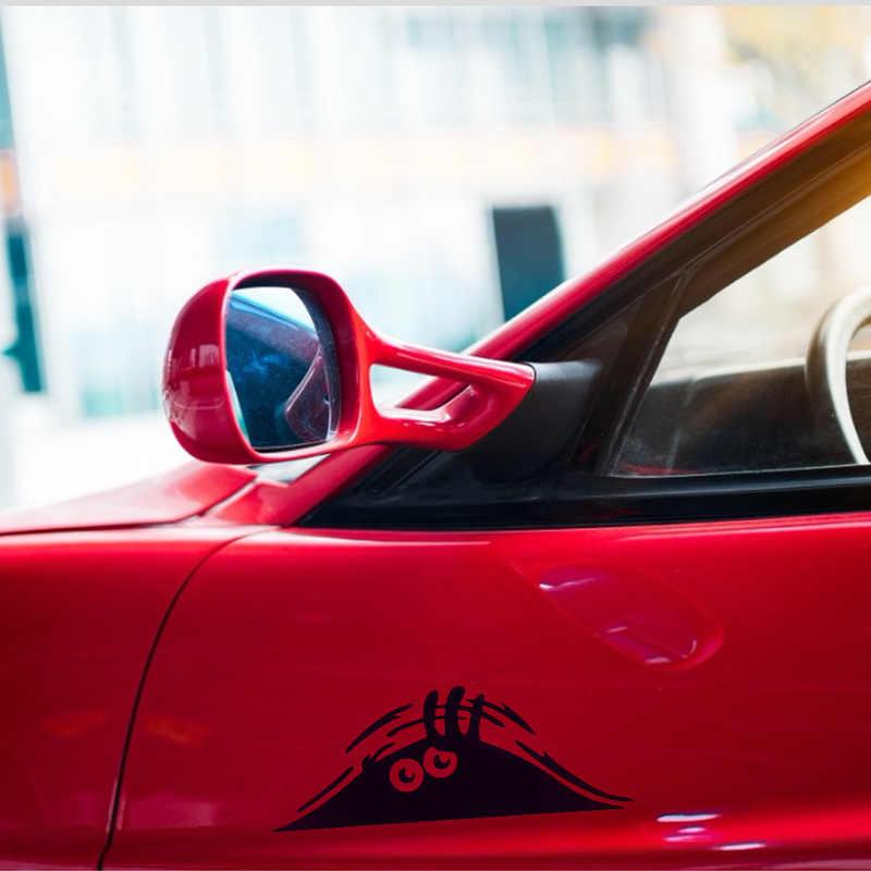Adesivos de carro engraçado 3d grandes olhos decalque do carro preto adesivo peeking monstro adesivos para decoração do carro produtos de automóvel acessórios do carro