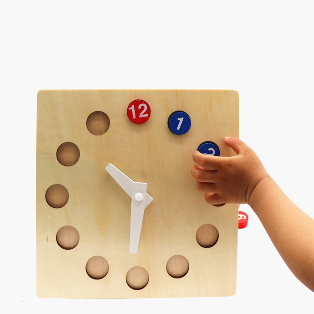 Wooden Puzzles Learning Clock Time Telling Activity Kindergarten Teaching  Aid Time Clock Children Kids Toy For Children Kid Gift Calendar & Time  -  AliExpress