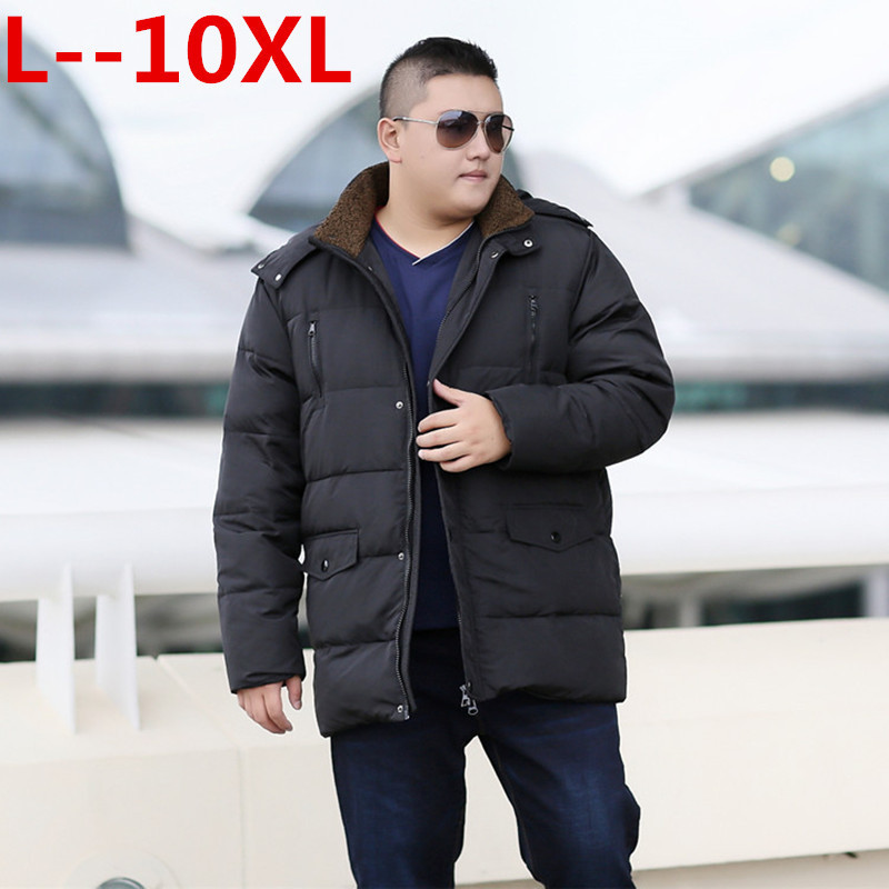 Plus 10XL 8XL 6X  Men Winter Feather Jacket Men's Hooded Parka Jackets Mens Thick Jacket Ultralight Down Jacket Male Donsjas