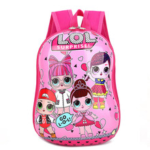 LOL mochila bag Childrens School Cute Bag plecak 3d Cartoon Print Anime kids Backpack Kindergarten