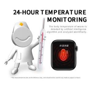 Image 2 - Lerbyee สมาร์ทนาฬิกา W58pro Body อุณหภูมิ Heart Rate Monitor บลูทูธฟิตเนส Tracker Call Reminder ผู้ชายผู้หญิง Smartwatch 2020