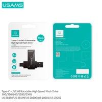 USAMS OTG 3 IN 1 Type-C+USB 3.0 High Speed Flash Drives Pendrive USB Key 16G 32GB 64GB 128GB 256G USB Flash Driver For Phone/Tab