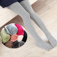 Spring and autumn children's slim pantyhose girls multicolor light gray vertical stripes children's tights(China)