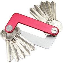 QingGear OKEY מתקדם מפתח מארגן נסיעות מפתח ערכות אור משקל במהירות ובקלות פתוח דלת מפתח תיקייה מחזיק מפתחות בר כלי