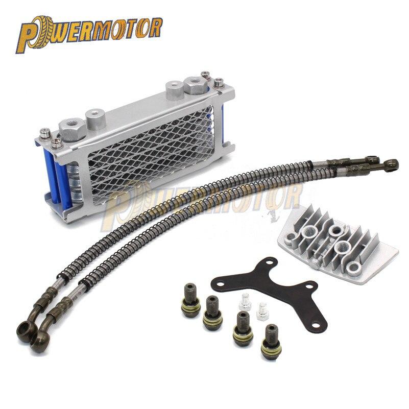 Motorcycle Engine Oil Cooler Radiator Engine For Loncin Zongshen Lifan Shineray Yinxiang Kayo Bosuer Xmoto 50CC 70CC 90CC 110CC