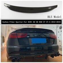 Спойлер из углеродного волокна для AUDI A6 S6 RS6 C7 C7.5 2012 2013 14 2015 16 17 2018 крыло выступ Спойлеры высокое качество BLS автомобильные аксессуары
