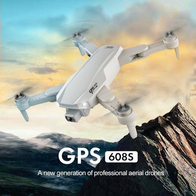 Profissional 6k hd câmera dupla fotografia aérea sem escova dobrável quadcopter rc distância 3km caldett s608 pro gps zangão 4k 5