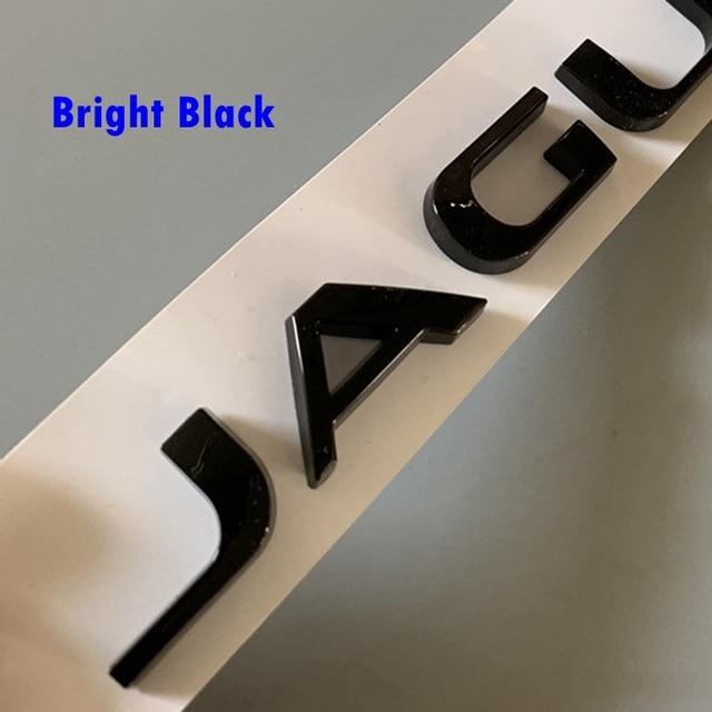 ABS J-A-G-U-A-R Letter Car Body Trunk Micro-label Car Exterior Decoration Sticker Suitable for Jaguar XE XF XFL XJ F-PACE 1