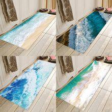 Waves, digital prints, flannel homes, anti-skid, water-absorbent entry mats, bathroom mats, bedside mats. mats strandberg tuli